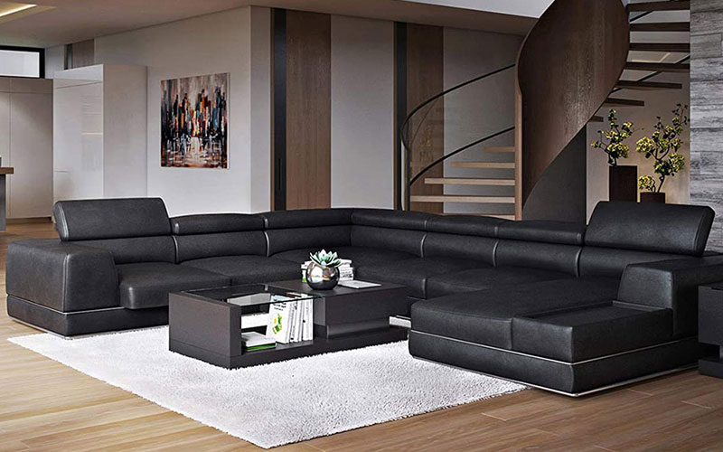 Best Top Grain Leather Sectionals