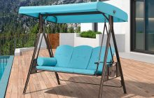 3 Person Patio Swings With Canopy