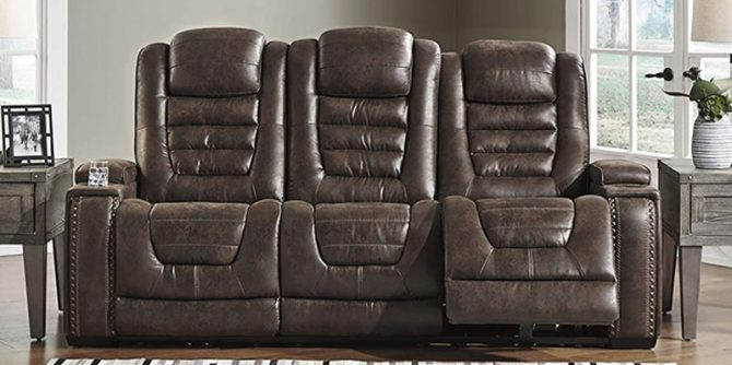 est Power Reclining Leather Sofas