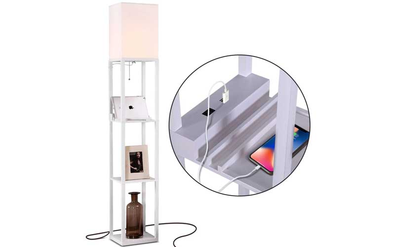 Best Floor Lamps with USB Port and Shelves