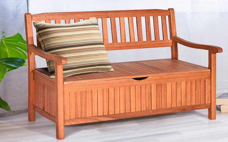 Best Outdoor Storage Benches with Backrest