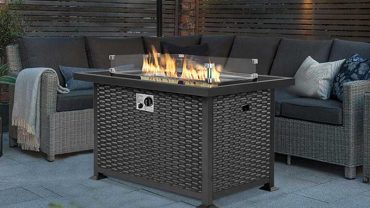 Best Patio Fire Pit Tables with Glass Wind Guards