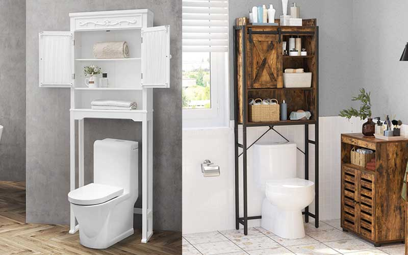 Top Rated Over-the-Toilet Storage with Doors