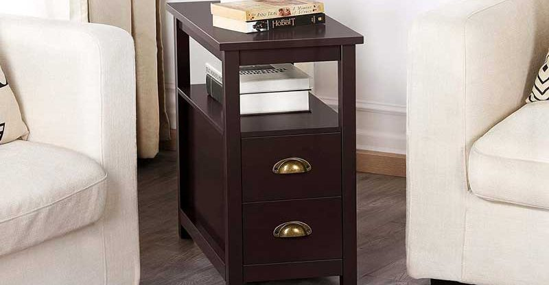 Best Narrow End Tables With Storage Drawers