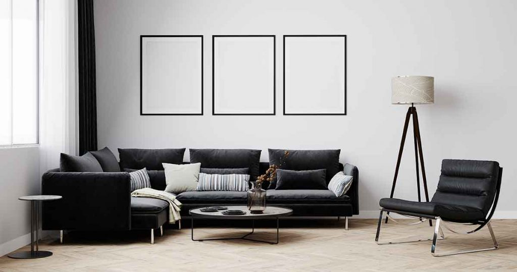 How To Decorate Around A Black Leather Sofa 1 Decorate Around A Black Leather Sofa