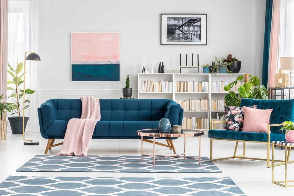 How To Decorate Around A Navy Blue Sofa 1 Living Room Decorating Around a Navy Blue Sofa