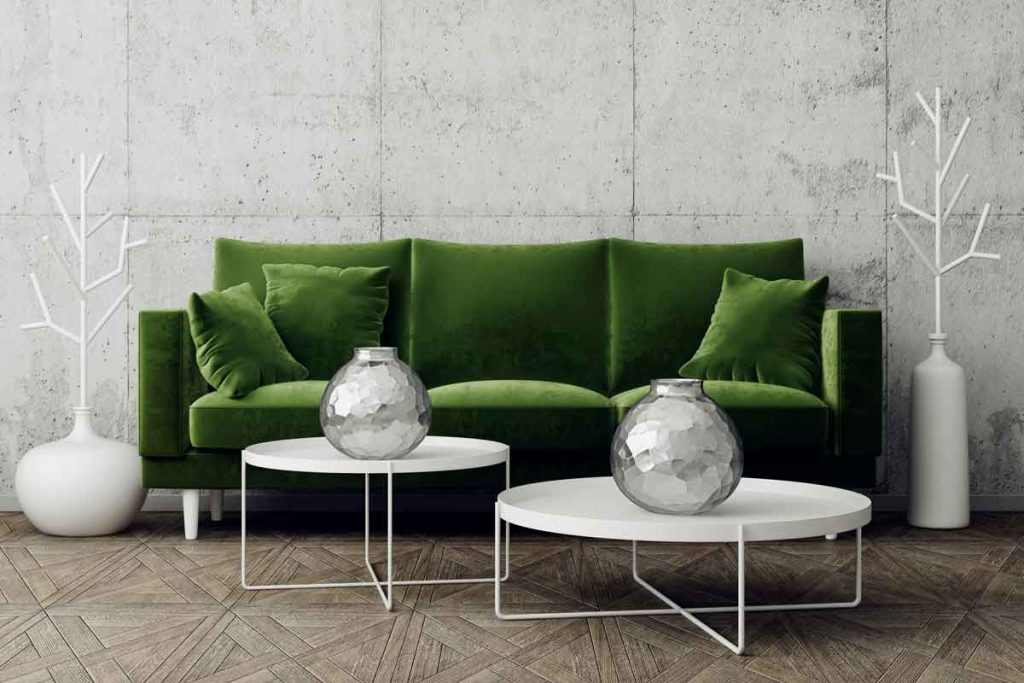How To Decorate Around A Dark Green Sofa 8 What color coffee tables go well with a dark green sofa