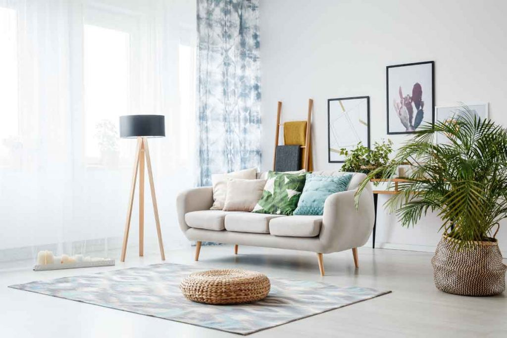 How to Decorate Around a Beige Sofa 6 What color curtains go well with a beige sofa