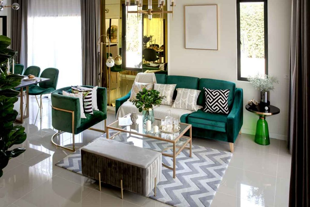 How To Decorate Around A Dark Green Sofa 2 What color scheme goes best with a dark green sofa