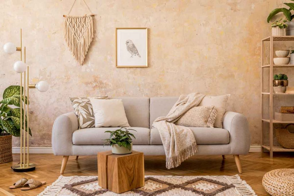 How to Decorate Around a Beige Sofa 5 What color throw pillows go well with a beige sofa
