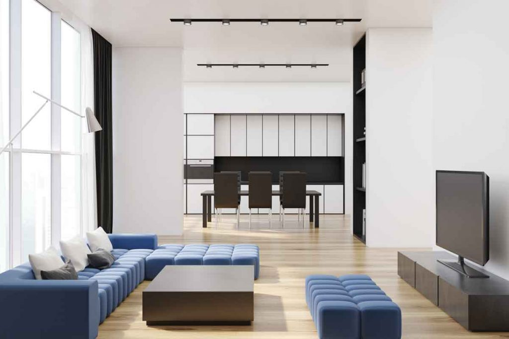 How To Decorate Around A Navy Blue Sofa 4 What color tv stand would go well with a navy blue sofa