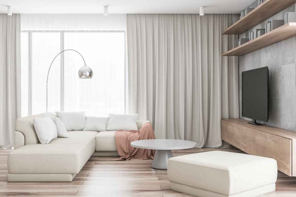 How to Decorate Around a Beige Sofa 9 What color tv stands go well with a beige sofa