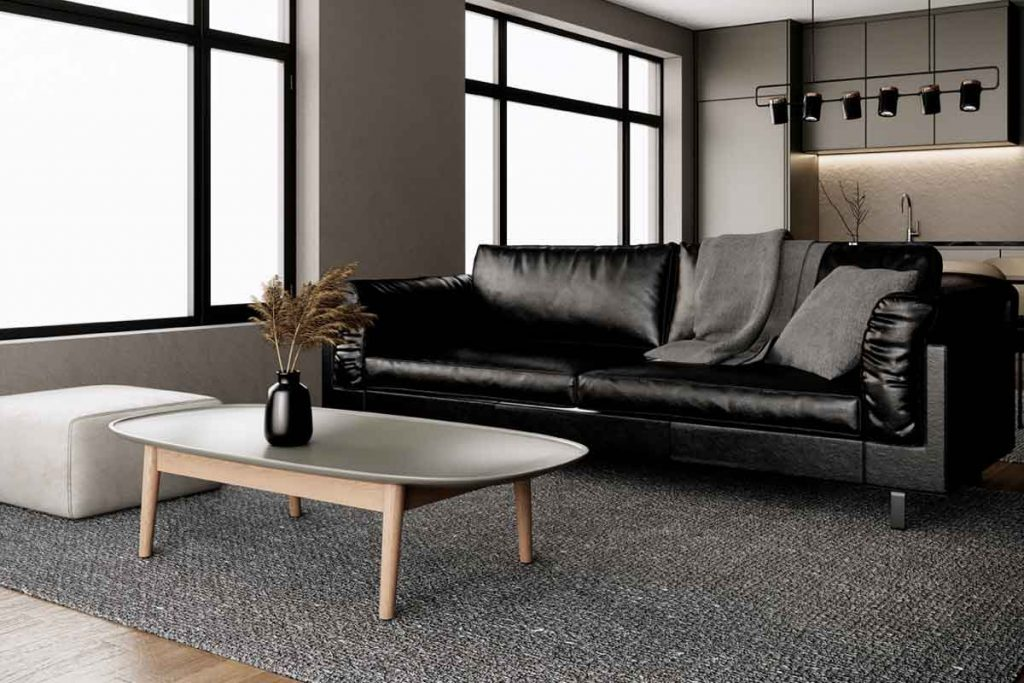 How To Decorate Around A Black Leather Sofa 8 color coffee tables go well with a black leather sofa