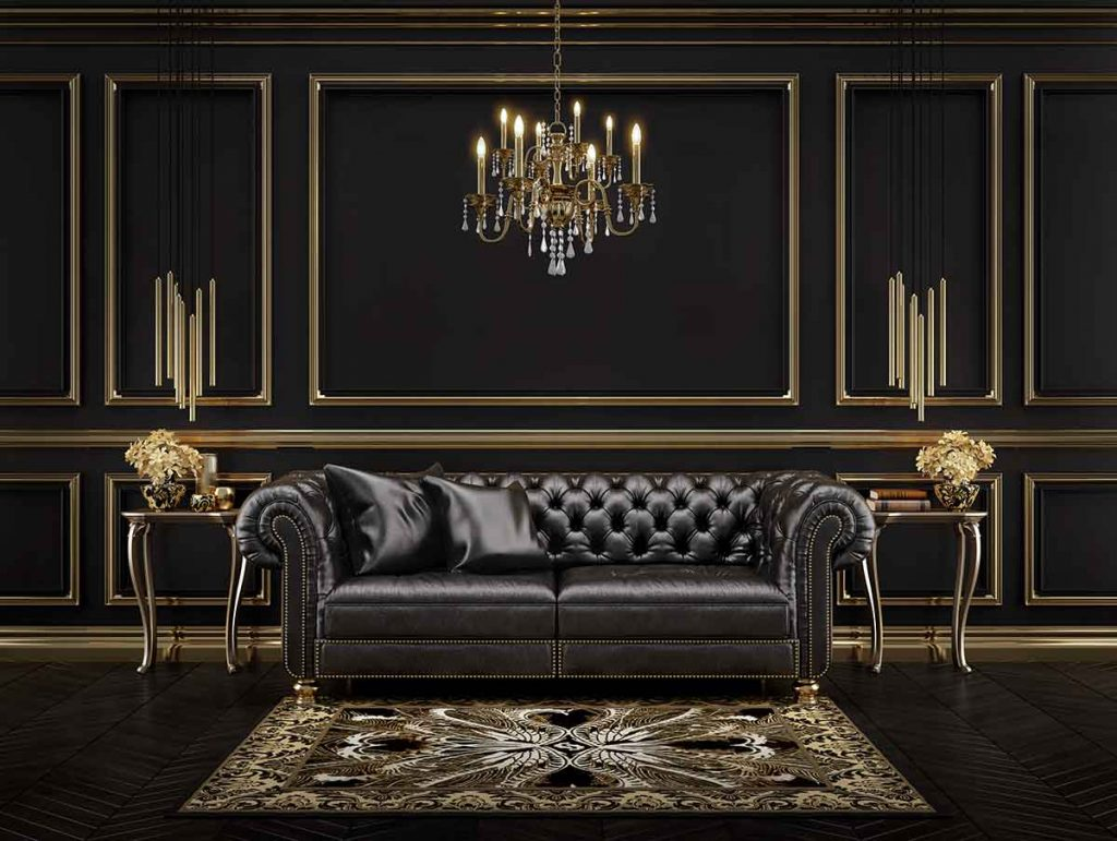 How To Decorate Around A Black Leather Sofa 2 color scheme goes best with a black leather sofa