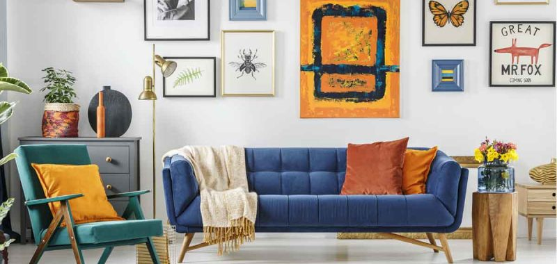 How To Decorate Around A Navy Blue Sofa 5 color scheme goes best with a navy blue sofa