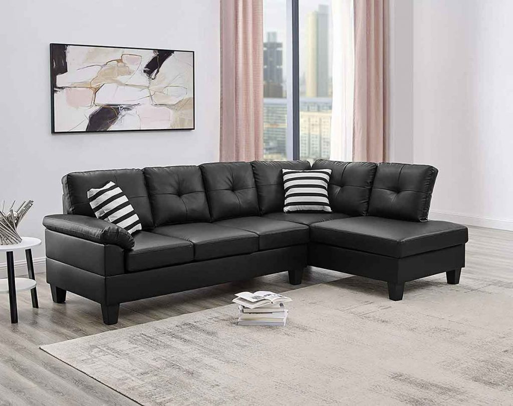 How To Decorate Around A Black Leather Sofa 5 throw pillows go well with a black leather sofa