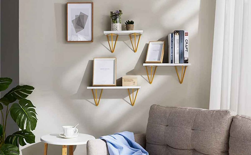 35 Essential Types of Furniture In The Living Room 30 wall floating shelves for living room